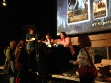 Cassie and Sarah Signing