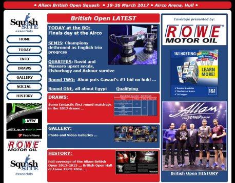 HISTORY – British Open Squash