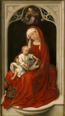 Rogier van der Weyden, Virgin and Child, (Durán Madonna), c. 1435-38, oil on panel, 100 x 52 cm, Museo Nacional del Prado, Madrid.