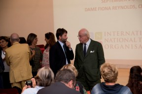 Minister Dario Franceschini speaks to Professor Andrea Carandini
