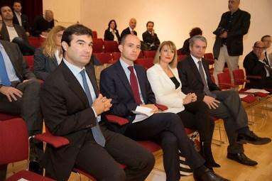 L to R: Stephen Benians (Vision think tank), Daniele Frongia (Deputy Mayor of Rome), Jill Morris (British Ambassador to Italy), Pierluigi Testa (Trinità dei Monti think tank)
