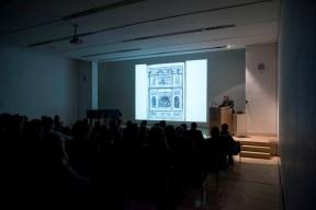 John Osborne lecturing. Photo by Antonio Palmieri.