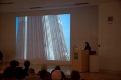 Penelope Davies lecturing. Photo by Antonio Palmieri.