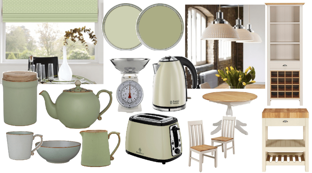 Pale green and cream country kitchen inspiration