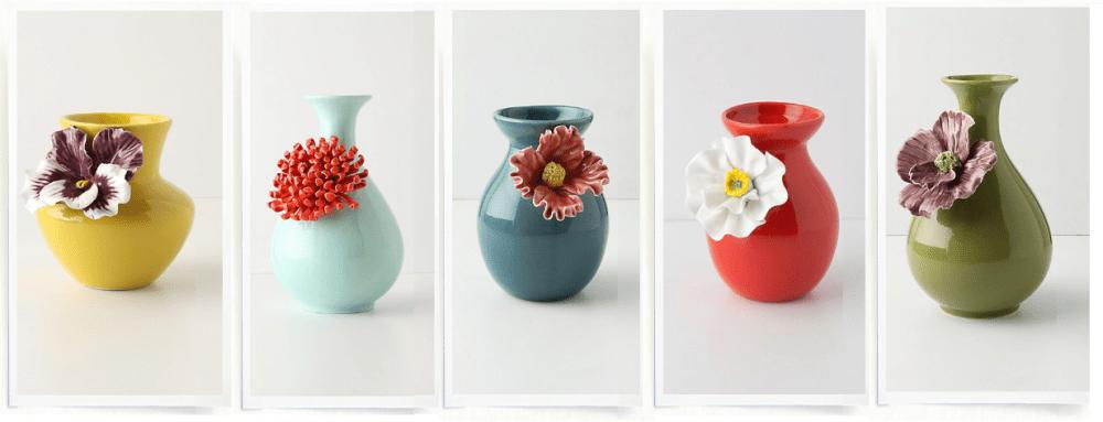 Statement floral vases