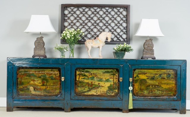 Lacquered decorated sideboard by Orchid Furniture