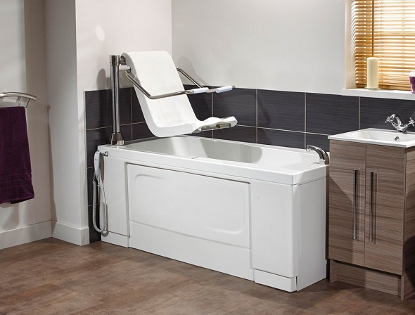 Bath with seat