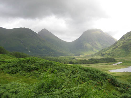 Glen Etive in the Highlands of Scotland.