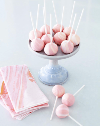 Marbled Pink Cakepops Jenny Cookies