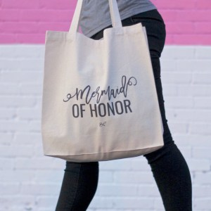 Mermaid of Honor canvas tote