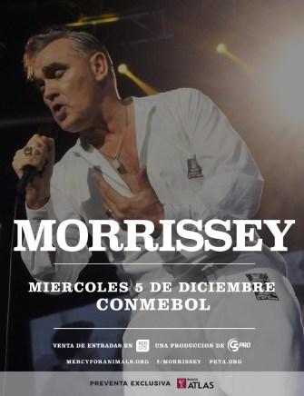Morrissey confirma segunda visita a Paraguay