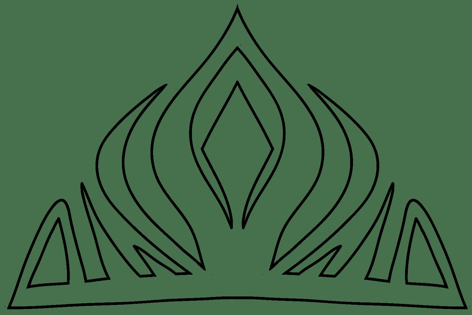 Queen Elsa Fondant Crowns