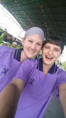 Foreign Teachers reppin the Purple Team