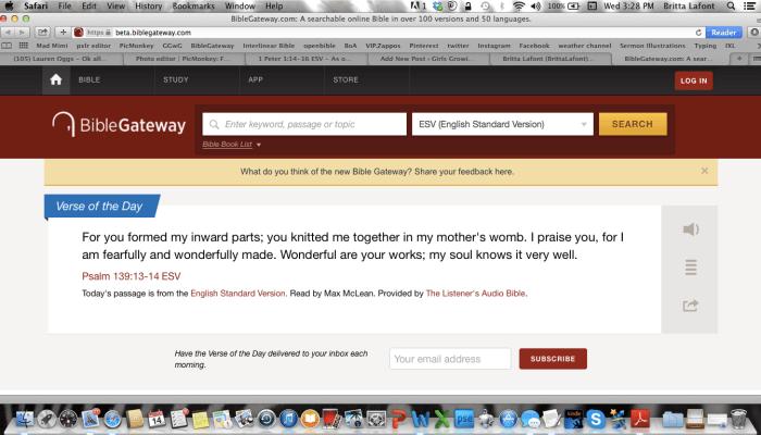 Bible Gateway's New Website!