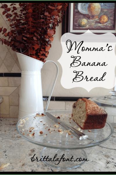 31 Days to #ASimplerJoy: Momma's Banana Bread