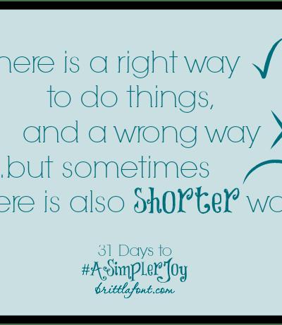 31 Days to #ASimplerJoy: Decorating Shortcuts