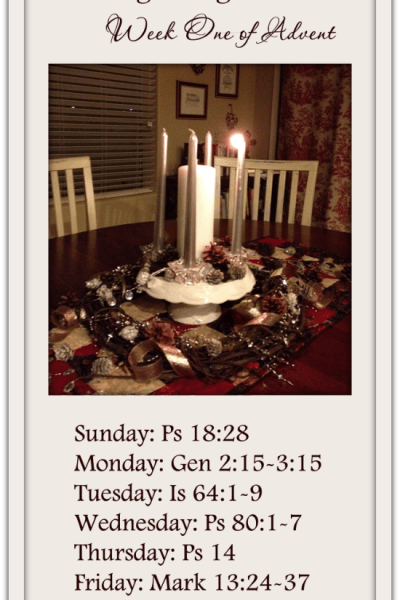 Walking Through Advent: Week One