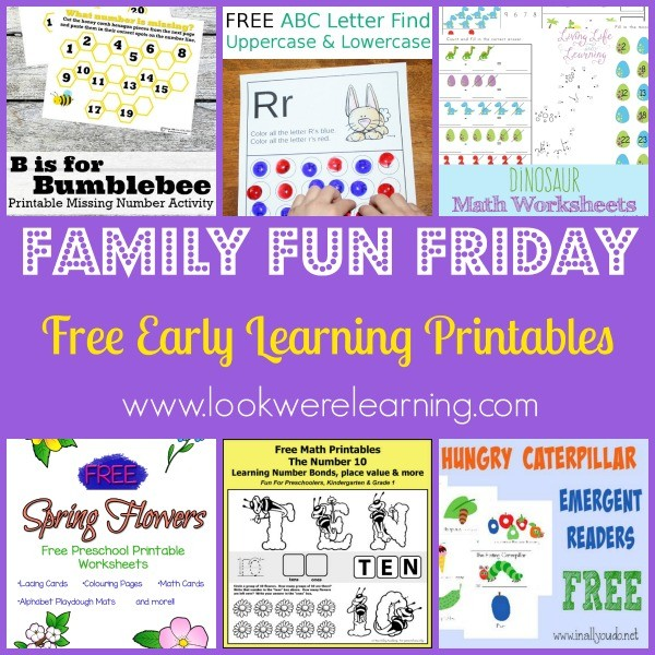 Free Early Learning Printables