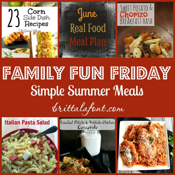 summer meals, simple dishes, simple recipes, family food