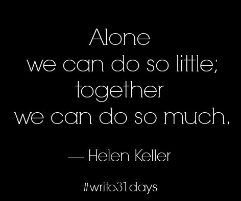 Helen Keller write 31 days