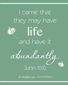 Write31Days John 10.10