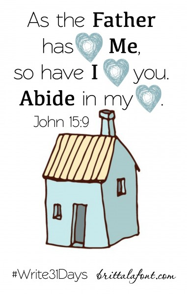 Abide with God #write31