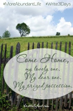 October 20 - Longing for Home