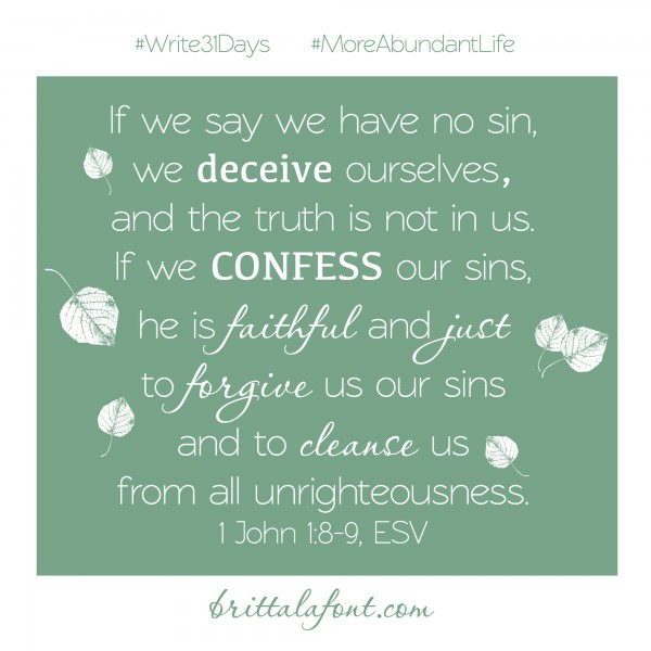 Confess 31Days