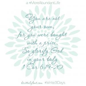 Glorify God #Write31Days