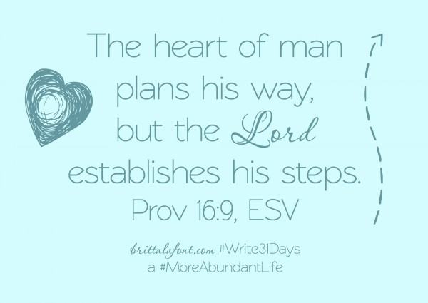 God Plans. We walk. #Write31Days