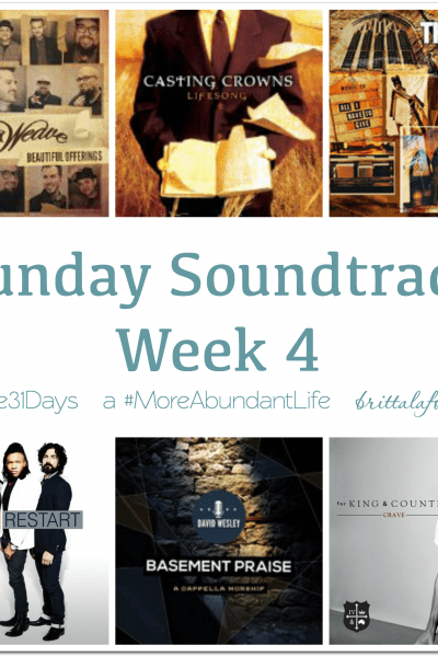 Sunday Soundtrack – October 25