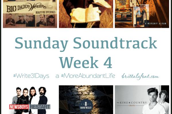 Sunday Soundtrack – October 25