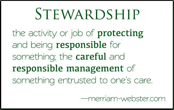 definition stewardship, steward, manage