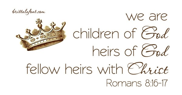 Romans 8.16-17 crowned