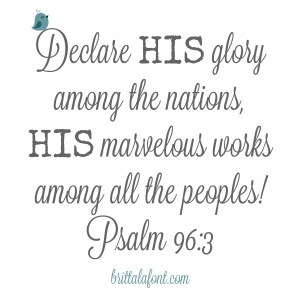 Meet Me in the Middle, so we can Declare His Glory!