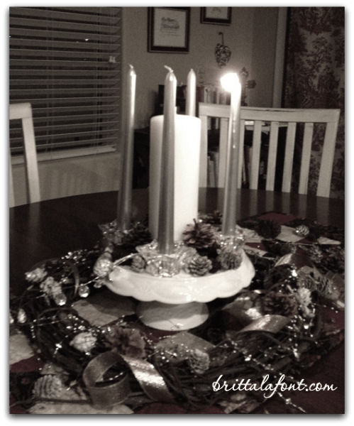 Advent wreath BW