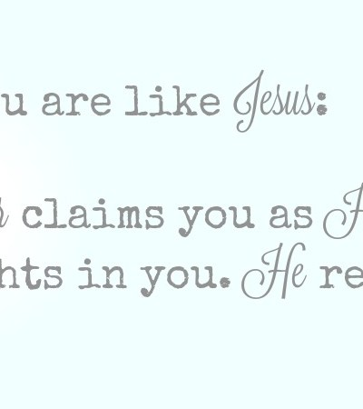 Two Ways You Are Like Jesus
