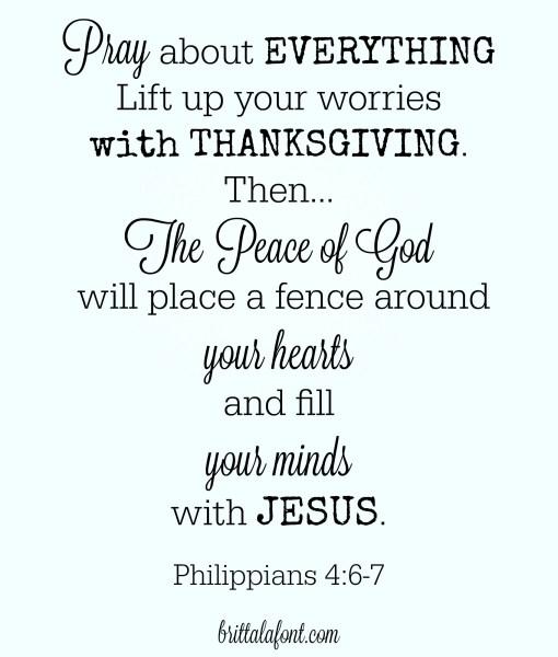 Thanksgiving is the beginning of joy