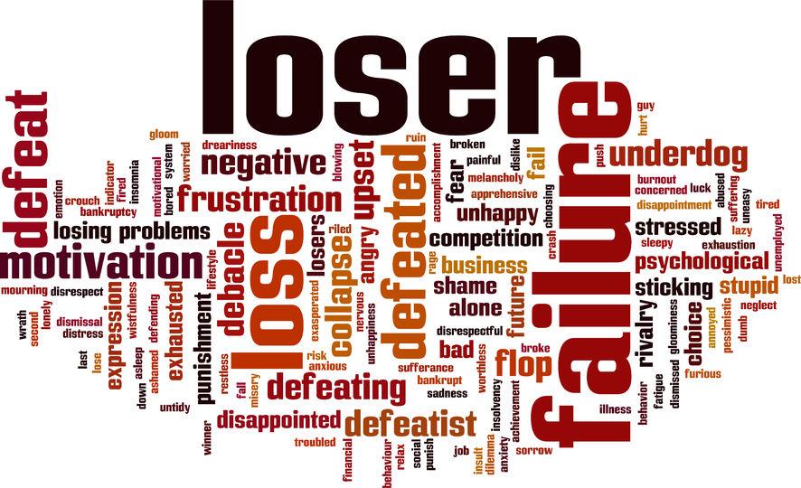 Loser, broken, failure