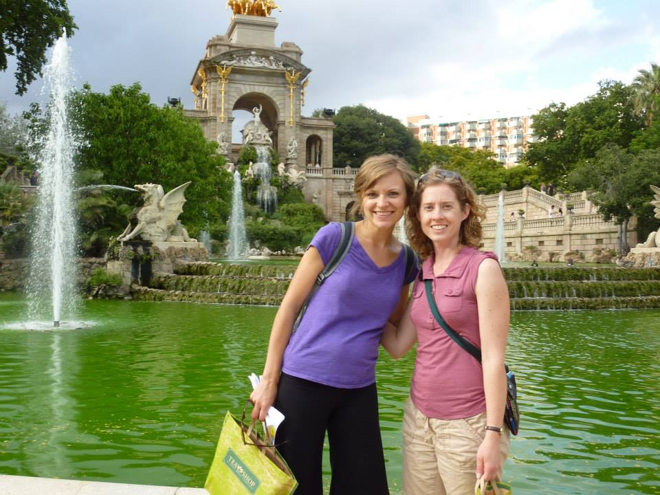 with my best friend Theresa in Barcelona, Spain