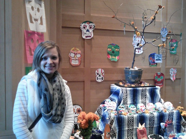 Day of the Dead is one of my favorite holidays. Here I am at the St. Paul History Museum.
