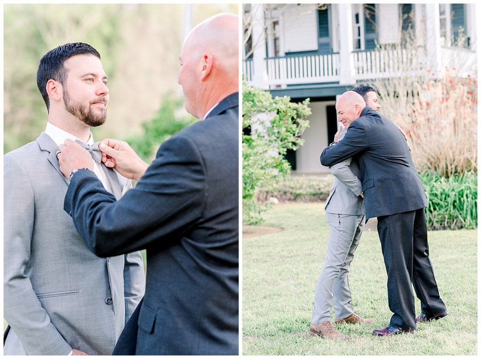 groom and his father before his wedding