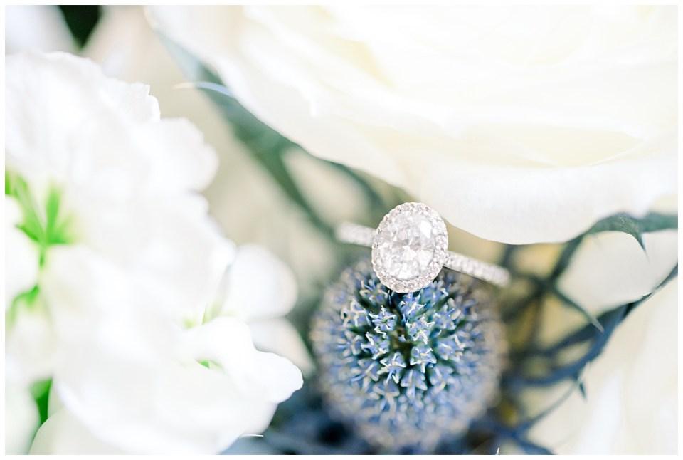 engagement ring close up macro photo