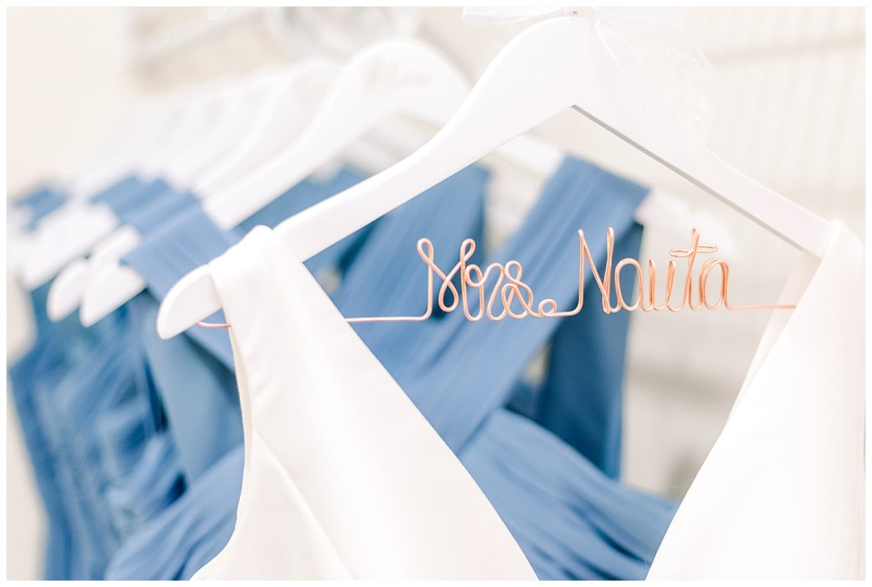 customized bridal dress hanger
