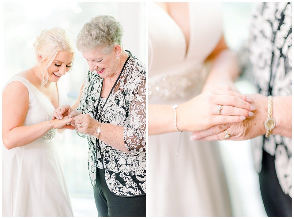 bride with grandmother on her wedding day