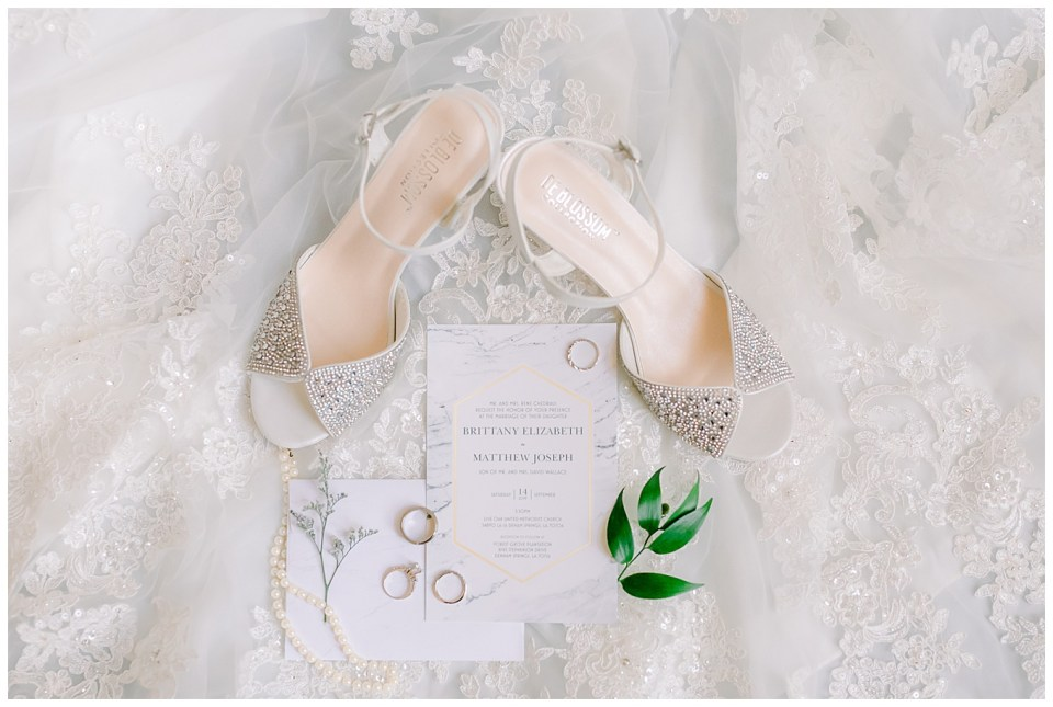 bridal details on wedding day in baton rouge
