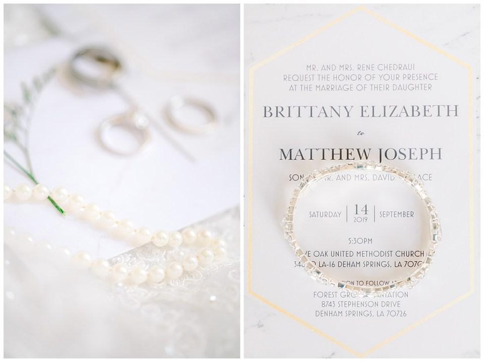 wedding day details and wedding invitation