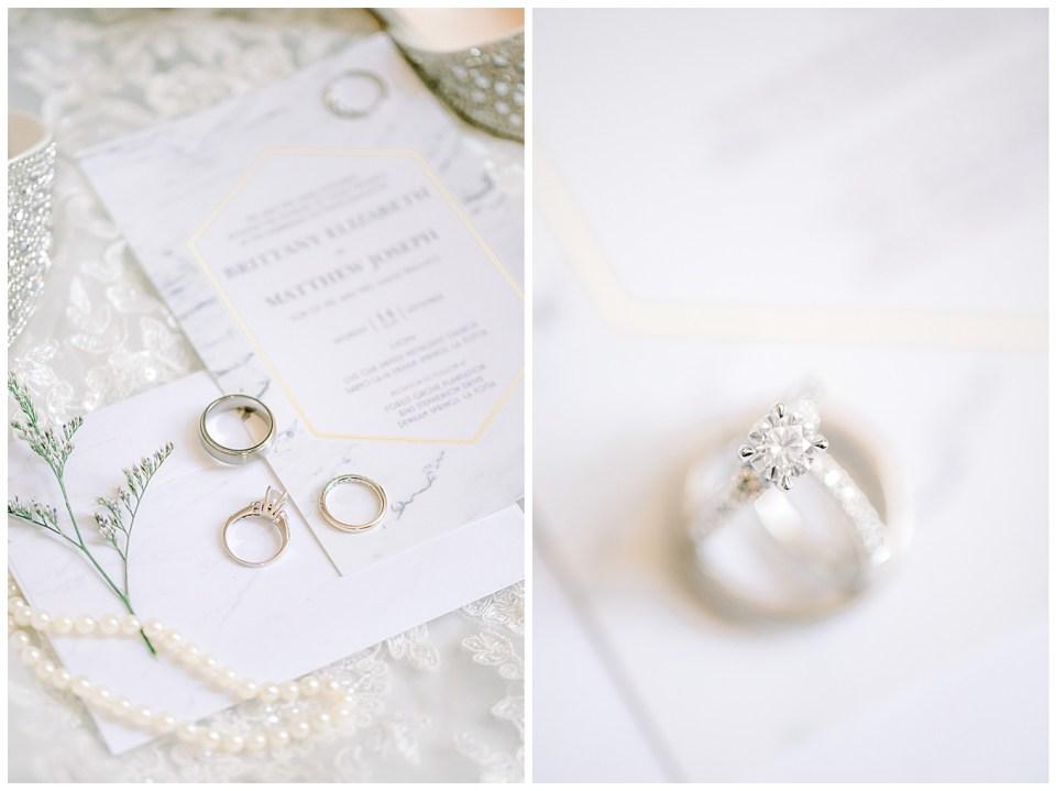 bridal details on wedding day