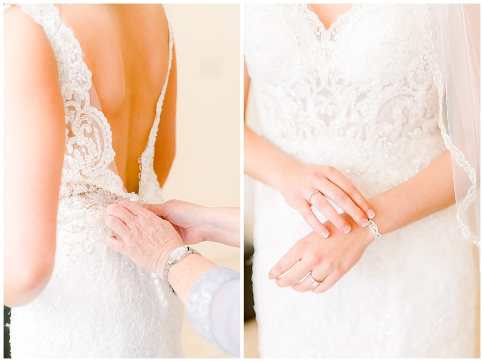 bride getting ready for her denham springs louisiana wedding