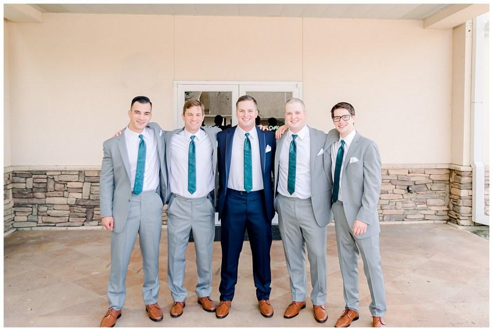 groom and groomsmen at denham springs wedding ceremony